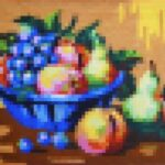 Still Life Bowl of Fruit Pixelated