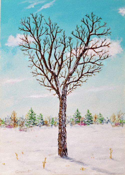 Heart Tree in Winter (P)